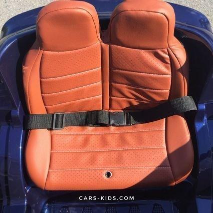 Электромобиль BMW X5 F15 синий (резиновые колеса, кожа, пульт, музыка, усиленный аккумулятор, глянцевая покраска)