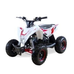 Детский квадроцикл бензиновый Motax GEKKON 70cc бело-красный (пульт контроля, до 45 км/ч)
